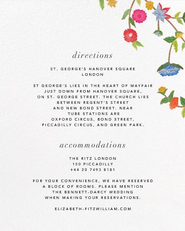 Stitched Floral II - Oscar de la Renta - All - insert front