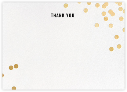 Confetti (Stationery) - White/Gold - kate spade new york - Wedding thank you notes