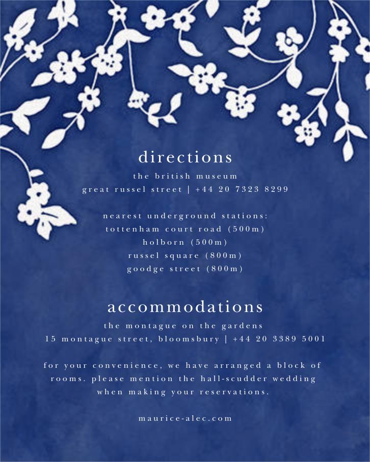 Floral Trellis II - Blue/White - Oscar de la Renta - All - insert front
