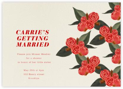 Rosebud - Light - Paperless Post - Bridal shower invitations