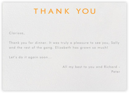 Double Thank You - Oranges - Paperless Post -