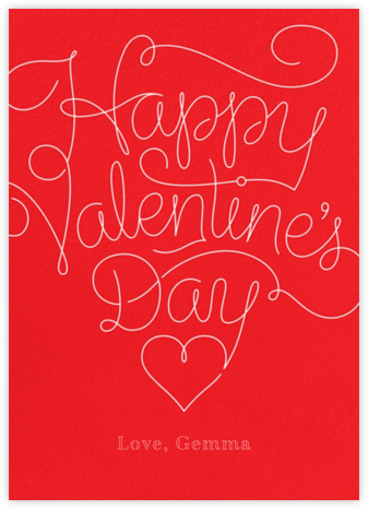 Red Letter Day - Paperless Post - Valentine's Day Cards