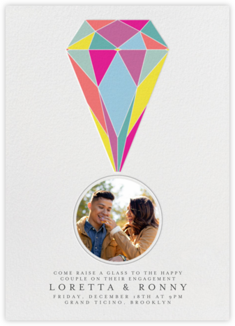 Put A Ring On It (Photo) - colors - Paperless Post - Engagement party invitations
