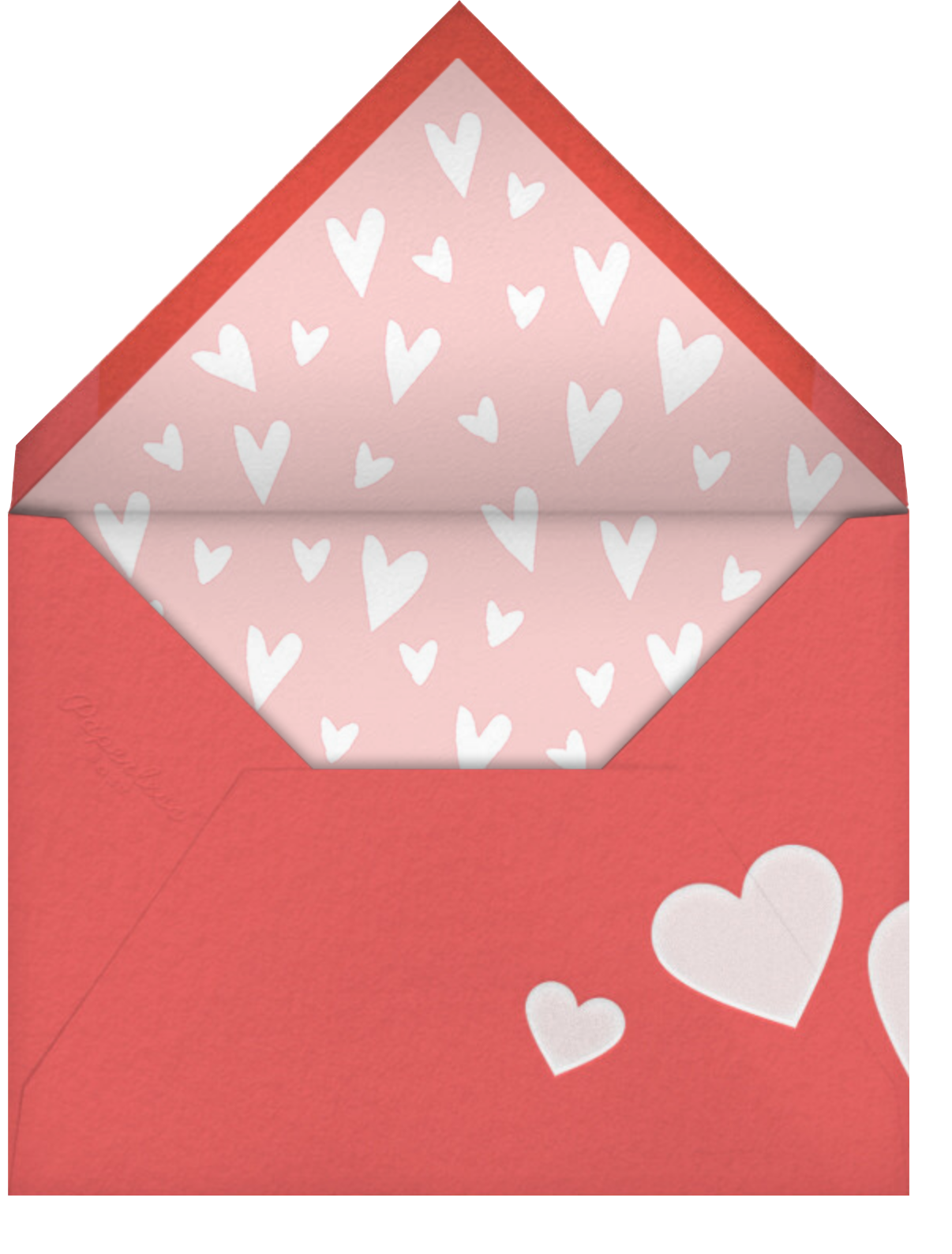 Balloon Bouquet - Paperless Post - Valentine's Day - envelope back