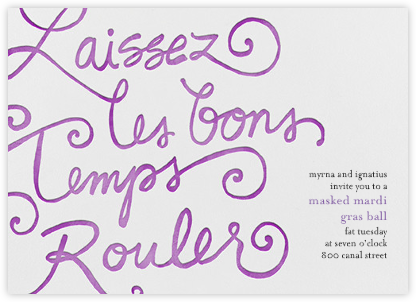 Good Times Roll - Paperless Post - Mardi Gras invitations