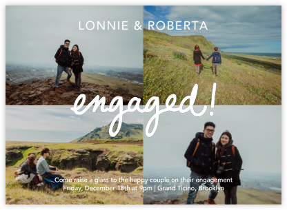 Quattro Engaged (Photo) - Paperless Post - Showers and parties