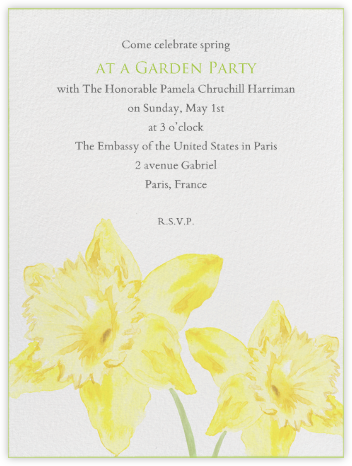 Daffodils - Paperless Post - Easter Invitations