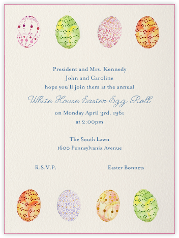 Watercolored Eggs - Paperless Post - Easter Invitations