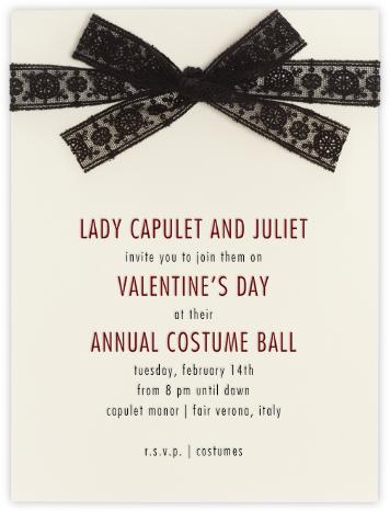 Dentelle (Black) - Paperless Post - Valentine's Day invitations