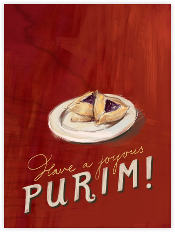 Hamantaschen - Paperless Post - Purim Cards