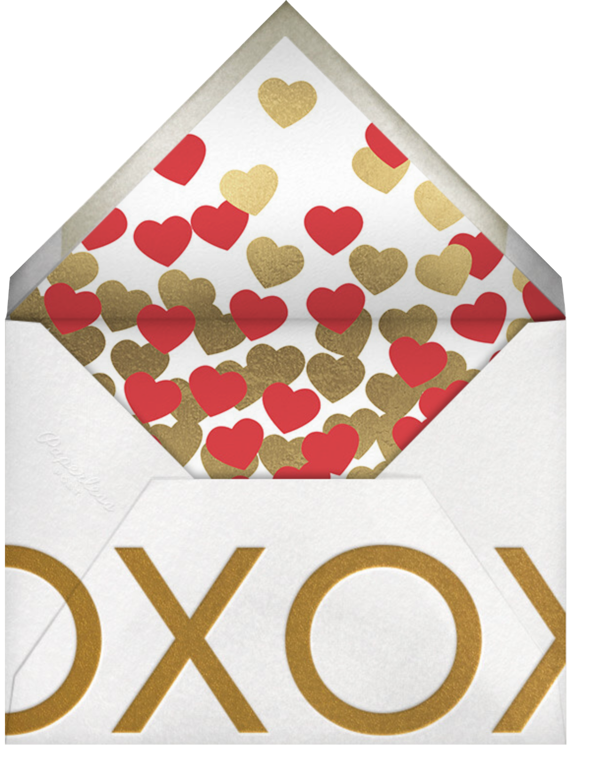 Picture of Love - Red - Paperless Post - Valentine's Day - envelope back