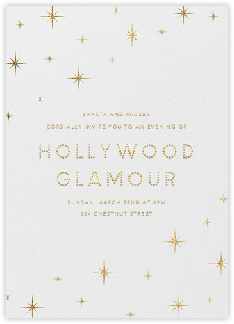 Flashing Lights - Paperless Post - Viewing Party Invitations