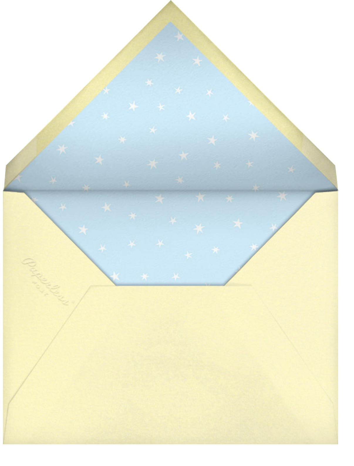 Fly by Night - Blue - Hello!Lucky - Baby shower - envelope back