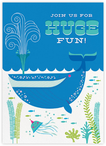 Whale of a Party - Hello!Lucky - Online Kids' Birthday Invitations