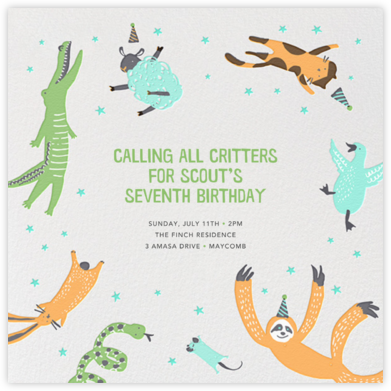 Jump for Joy (Square) - Hello!Lucky - Birthday invitations