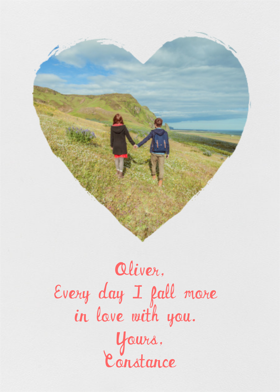 Painted Heart (Photo) - Paperless Post - Greeting cards