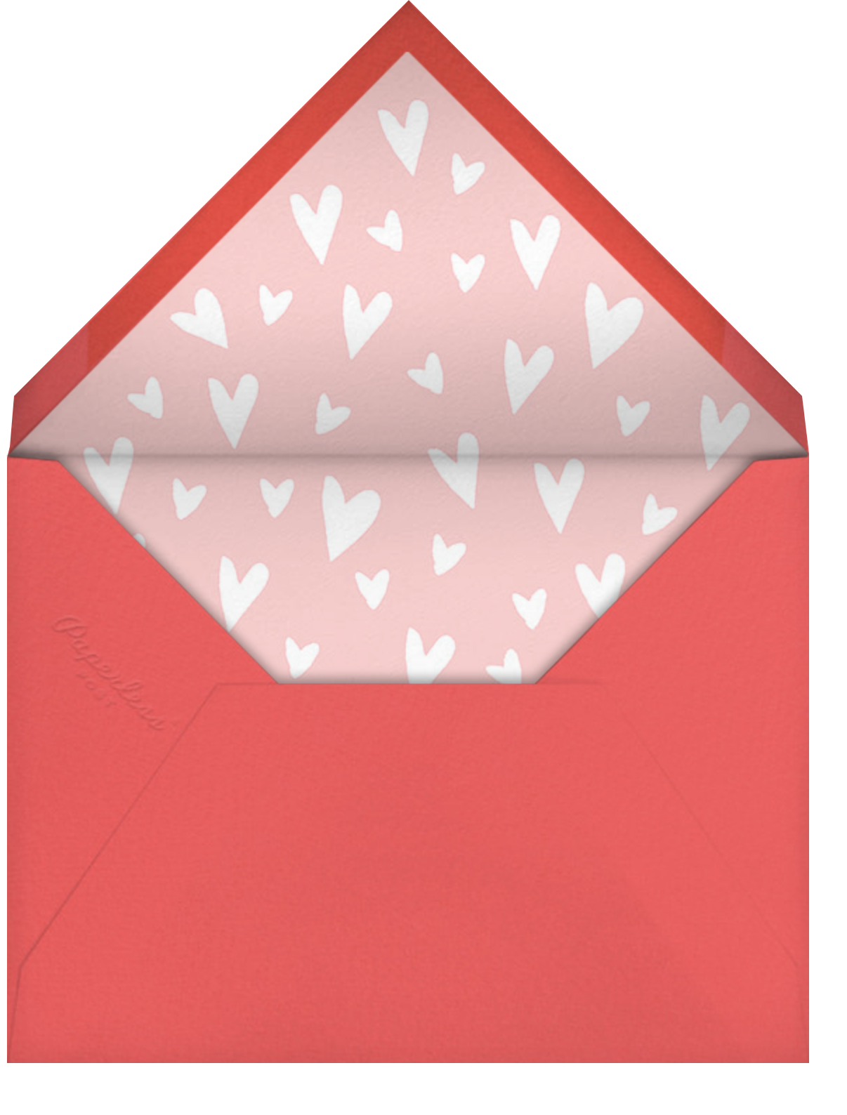 Painted Heart (Photo) - Paperless Post - Love cards - envelope back