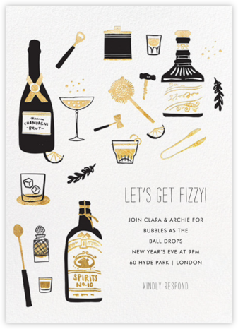 Come for Cocktails - Hello!Lucky - New Year's Eve Invitations