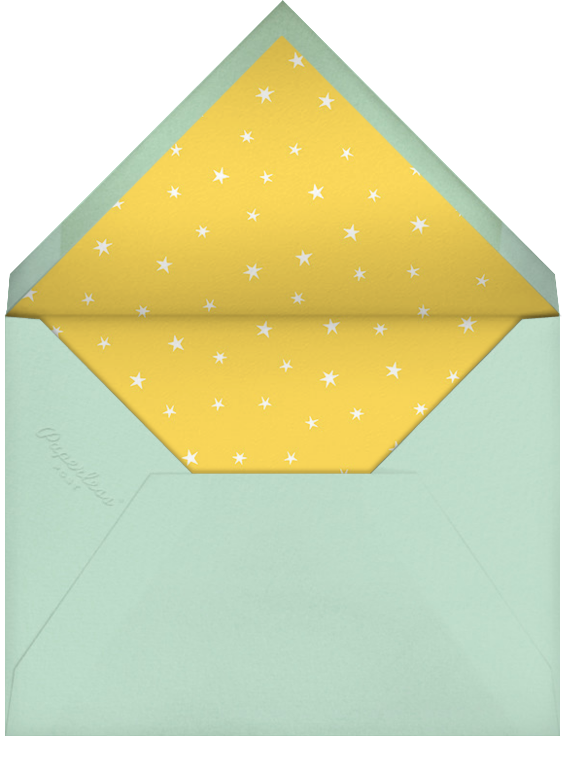 Baby Things - Celadon - Hello!Lucky - Baby shower - envelope back