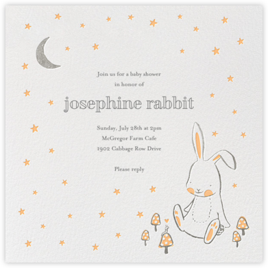 Starry Bunny  - Hello!Lucky - Woodland Baby Shower Invitations