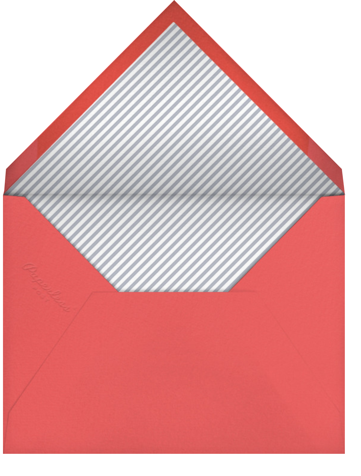 Tunnel of Love - Paperless Post - Engagement party - envelope back