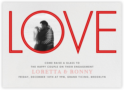Tunnel of Love - Paperless Post - Engagement party invitations