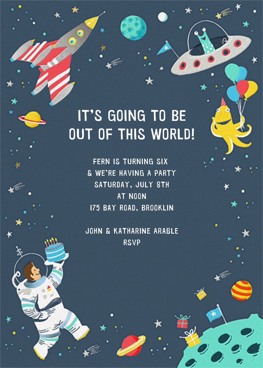 Out of This World - Hello!Lucky - Kids' birthday invitations