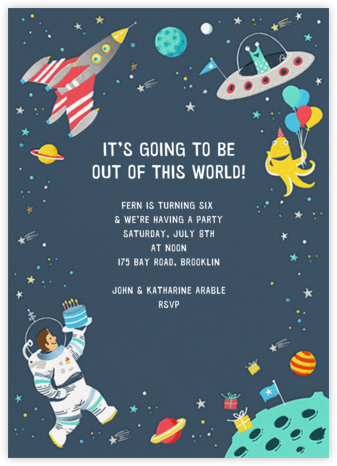 Out of This World - Hello!Lucky - Online Kids' Birthday Invitations