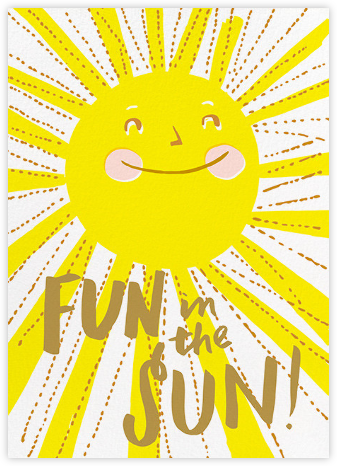 Fun in the Sun - Hello!Lucky - Summer Party Invitations