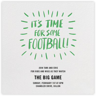 It's Time For Some Football - Paperless Post - Invitations