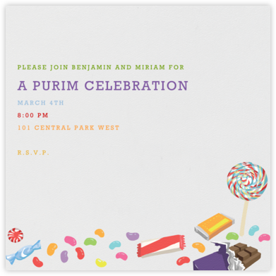 Purim Candy - Paperless Post -