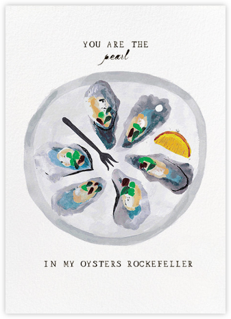 Oysters Rockefeller - Mr. Boddington's Studio - Funny Valentine's Day cards