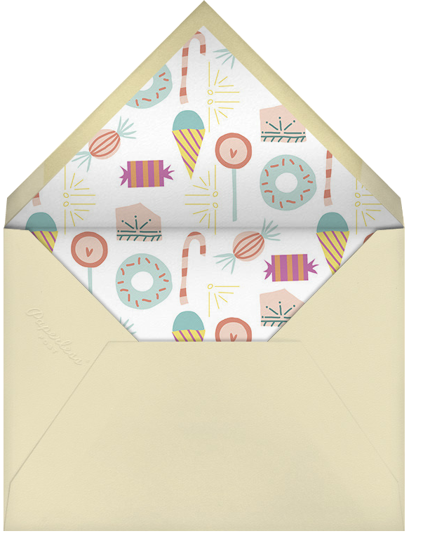 Candy Necklace - Little Cube - Purim - envelope back