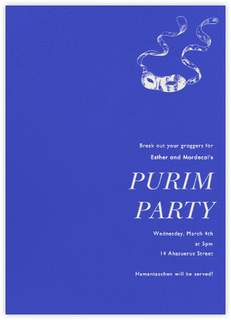 Universe Tall - Paperless Post - Purim Invitations