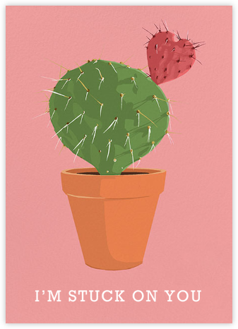 Cactus Heart - Hannah Berman - Valentine's day cards