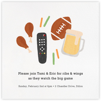 Wings 'n' Things - Paperless Post - Sporting Event Invitations