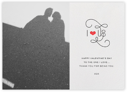 I Heart Us - bluepoolroad - Valentine's day cards