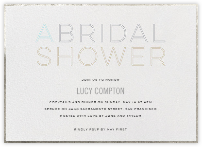 A Bridal Shower - bluepoolroad - bluepoolroad invitations and cards