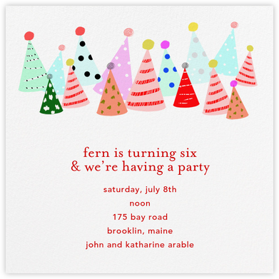 Party Hats - Ashley G - Invitations