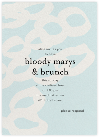 Abstract Rings - Ashley G - Brunch invitations