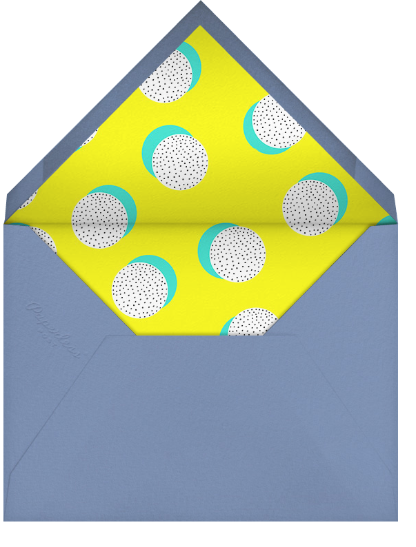 Dots on Dots - Lagoon - Ashley G - General entertaining - envelope back
