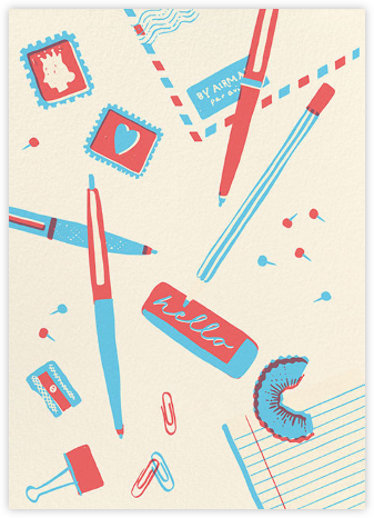 Pens and Pencils - Hello!Lucky - Just Because Cards