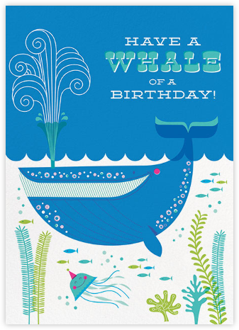 Whale of a Birthday - Hello!Lucky - Birthday cards