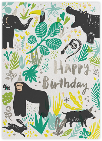 Jungle Birthday - Hello!Lucky - Online greeting cards