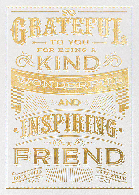 Grateful for You - Hello!Lucky - Just because cards