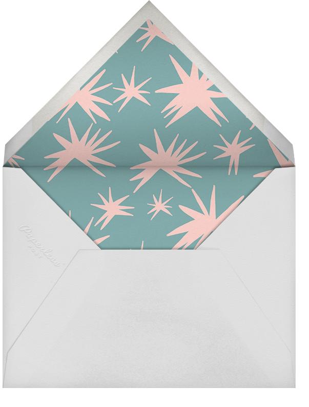Brushed Drops (Stationery) - Pink/Black - Ashley G - Personalized stationery - envelope back
