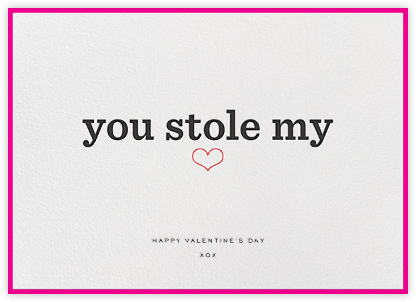 You Stole My Heart - bluepoolroad - bluepoolroad invitations and cards