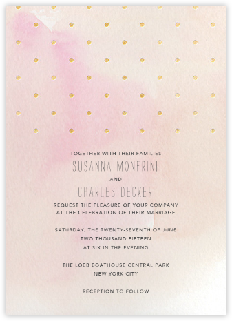 Watercolor - Pink/Gold - Paper + Cup - Wedding invitations