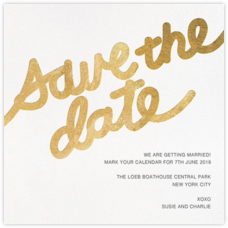 Love Letter (Save the Date) - Gold