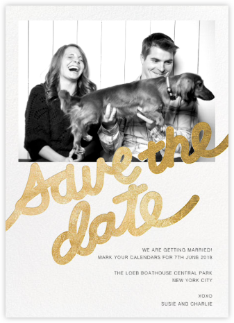 Love Letter (Photo Save the Date) - Gold - Paper + Cup - Paper + Cup